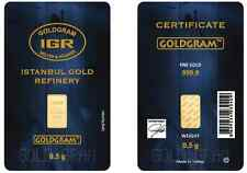 1/2 gram Istanbul Gold Refinery (IGR) Bar .9999 Fine (In Original Assay Card)