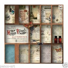 "Papermania 6x6"" scrapbooking paper pack Madame Payraud 32 sheet 16 designs 160gm"