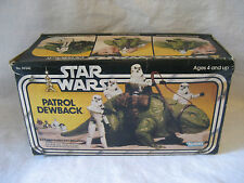 vintage Star Wars PATROL DEWBACK Kenner action figure accessory COMPLETE box 70s