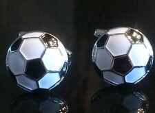 White Football Cufflinks Premier Soccer Cufflinks Free Presentation Gift Pouch