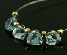 4 GENUINE SKY BLUE TOPAZ FACETED TRILLION CUT BEADS 7 MM  B4