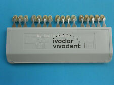 100% Ivoclar Vivadent DENTAL PORCELAIN TEETH TOOTH 16 Color A-D SHADE GUIDE