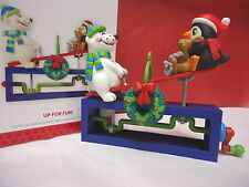 2013 HALLMARK Up for Fun Ornament New in Box Turn Crank Seesaw Moves