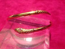 Vintage 9ct Kt quilates de oro Brazalete De Serpiente con ojos de rubí?