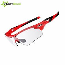Rockbros Polarized Cycling Changeable Running Glasses With Myopia Frame Red