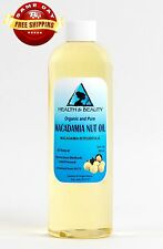 MACADAMIA NUT OIL ORGANIC CARRIER COLD PRESSED 100% PURE 36 OZ