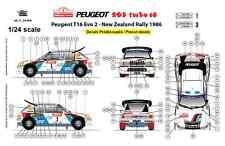 [FFSMC Productions] Decals 1/24 Peugeot 205 Turbo 16, Nouvelle Zélande 1986