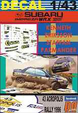 DECAL 1/43 SUBARU IMPREZA 555 K.ERIKSSON ACROPOLIS R. 1996 5th (03)