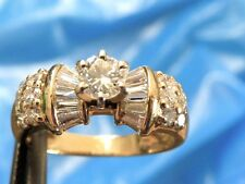 14k yellow gold FINE LADIES 1.00 CARAT TW DIAMOND ENGAGEMENT RING  SIZE 5.25