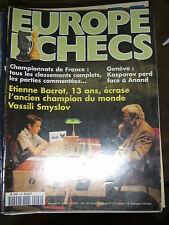 Europe Echecs N° 449 Etienne Bacrot gagne Vassili Smyslov Défaite Kasparov Anand