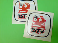 Dtv & logotipo Distribuidor equipo Classic Rally Motorsport Stickers Calcomanías 2 Off 60mm