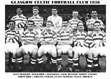 CELTIC F.C. TEAM PRINT 1956 (EVANS/COLLINS/MOCHAN)