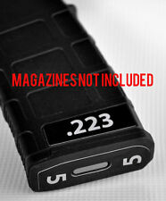 .223 MAGAZINE STICKERS fits MAGPUL PMAG 30 GEN M3  WHITE NUMBERED 1-6