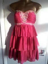 BNWT LIPSY ladies PIXIE LOTT stunning pink/red jewelled/beaded dress 12