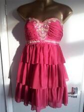 BNWT LIPSY ladies PIXIE LOTT stunning pink/red jewelled/beaded dress 12