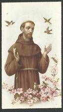 Estampa antigua San Francisco de Asis andachtsbild santino holy card santini