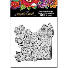 New Stampendous RUBBER STAMP cling LAUREL BURCH BLOSSOMING FELINE FREE US SHIP