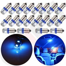 20Pcs Ultra Blue BA9S 5SMD LED Dome/Map/Door Light Bulb 12V 3886X 1895 1895 6253