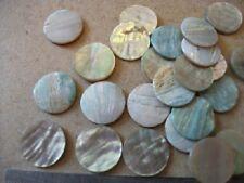 6 15 mm di diametro PANNA Abalone PULSANTE SPAZI VUOTI-intarsio