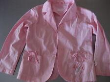 Jacke Sakko Gr. 116 von Bonito, Rosa mit Stickerei, 2 Taschen,Cotton wunderschön