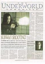 UNDERWORLD CHRONICLE 2003 PROMO NEWSPAPER VAMPIRES VS WEREWOLVES HORROR MOVIE