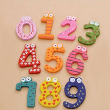 Set of 10 Number Large Cartoon Educational Toy Wooden Fridge Magnet for Kid Baby