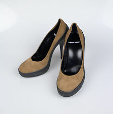 New. PIERRE HARDY Beige Suede Leather Stilettos Pumps Heels Shoes Size 6/36 $740