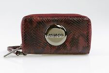MIMCO MIM Zip Tech Purse Claret Snake RRP$179 BNWT Wallet Pouch Mobile Black Red