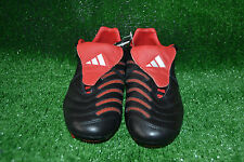 NEW RARE BLACK ADIDAS PREDATOR PULSE TRX FG  FOOTBALL BOOTS CLEATS  SIZE 7