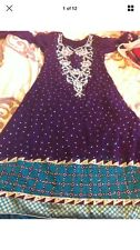 Stunning Asian Pakistani Indian Designer anarkali Dress  Wedding party Wear