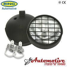 Pair Ring 12v Car 6 inch Round Fog Halogen Spot Lights Lamps Stone-guard