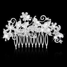 Crystal Rhinestonee Butterfly Hair Comb Clip Pin Bridal Wedding Headpiece
