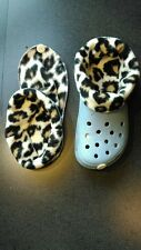 SOCKS / LINERS FOR CROC, CROCS OR CLOGS GREAT FOR WINTER - LEOPARD
