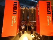 RCA 5U4GB NOS NEW OLD STOCK NEW IN BOX MATCHED PAIR TESTED VINTAGE VALVES TUBES