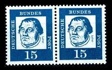 BUND bed. Deutsche (y)   15  Pf. **, Mi. 351 - im Paar, postfrisch Luxus