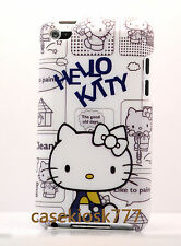 for iPod touch 4th 4 th 4g itouch  hello kitty hard case blue gray white bow