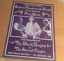 PATTI SMITH 1981  Dennis Loren Original Concert Poster  14''    x 19''