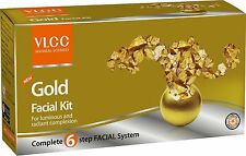 VLCC HERBALS 6 STEP GOLD SINGLE FACIAL KIT FOR LUMINOUS AND RADIANT COMPLEXION