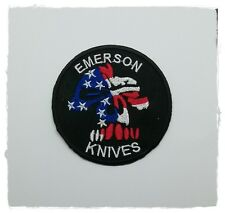 Emerson Knives Patch Sew Iron on Embroidered Free Shipping U.S. Military Badge