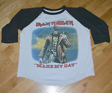RaRe *1986 IRON MAIDEN* vintage concert tour jersey shirt (L/XL) 80's Rock Metal