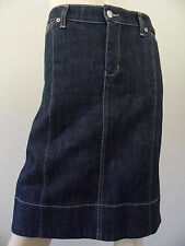 SATCH dark denim panel below knee skirt size 14 MADE IN AUSTRALIA BNWT