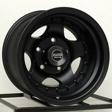 "15 inch Black Wheels Rims Jeep Wrangler Ford 5 Lug NEW 15x10"" AR23 AR235165B NEW"