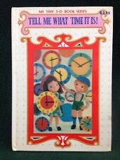 TELL ME WHAT TIME IT IS My Tiny 3-D Book Series PLAYMORE Japan Puppet Story