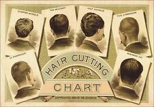 "TARGA VINTAGE ""1884 HAIR CUTTING BARBER"" Pubblicità, ADVERTISING, POSTER, PLATE"