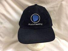 trucker hat baseball cap MUSIC COUNTRY vintage rare rave slide adjuster nice