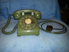 Western Electric Bell Green Rotary Desk Phone 500 C/D Vintage Telephone Retro
