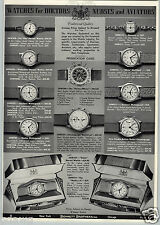 1941 PAPER AD 3 PG Waltham Wrist Watch Flying Officer Chronograph Multicron