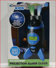 Discovery Kids RocketShip PROJECTION Alarm Clock - Planets Stars Galaxies Space