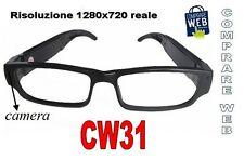 OCCHIALI VISTA SPIA HD 1280X720 SPY TELECAMERA OCCULTATA SPIA MICROCAMERA CW31