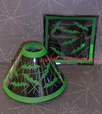 New  Yankee Candle BATTY BATS Jar Shade & Tray Set  Halloween NIB 2016 Sold Out